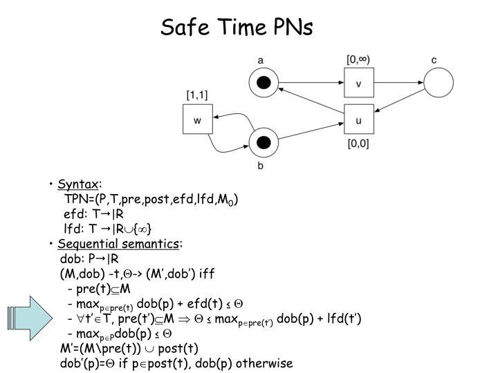 Safe Time PNs