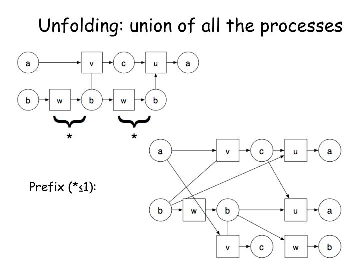 Unfolding: union of all the processes