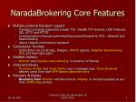 naradabrokering core features