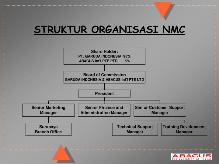 STRUKTUR ORGANISASI NMC