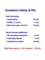 acceptance testing at ral