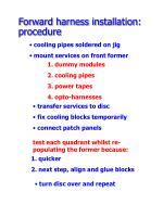 forward harness installation procedure