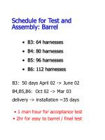schedule for test and assembly barrel