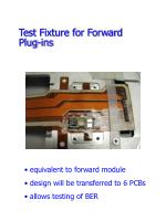 test fixture for forward plug ins