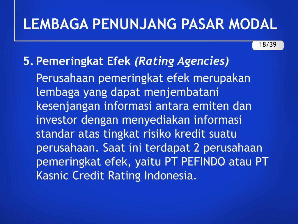 PPT - PASAR MODAL DI INDONESIA PowerPoint Presentation ...