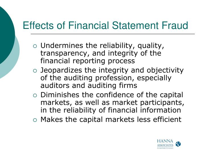 Effects of Financial Statement Fraud