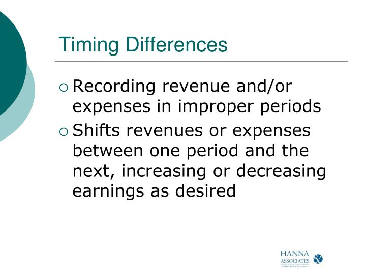 Timing Differences