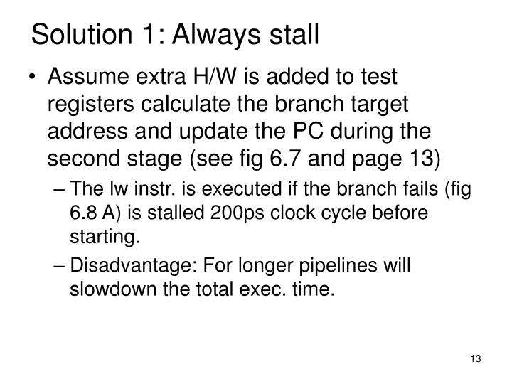 Solution 1: Always stall