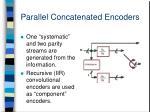 parallel concatenated encoders