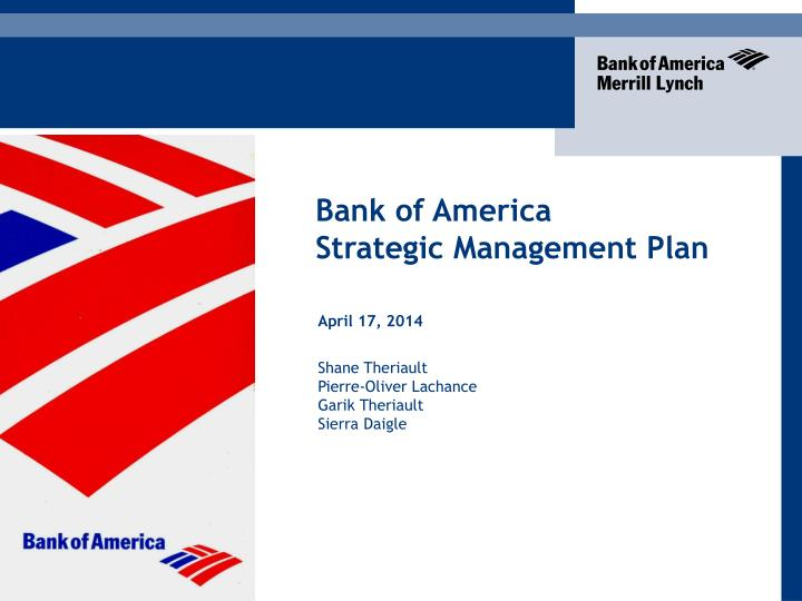 Ppt bank of america strategic management plan powerpoint bank of america toneelgroepblik Image collections