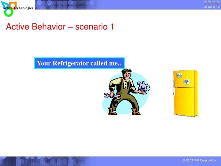 Active behavior scenario 1