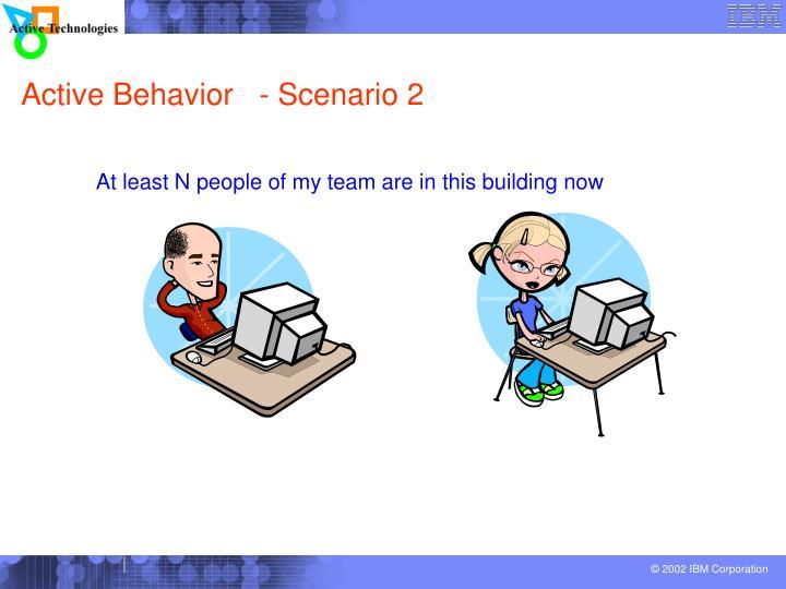 Active Behavior   - Scenario 2