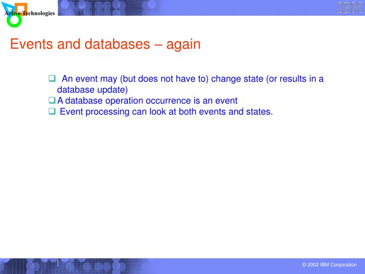 Events and databases – again