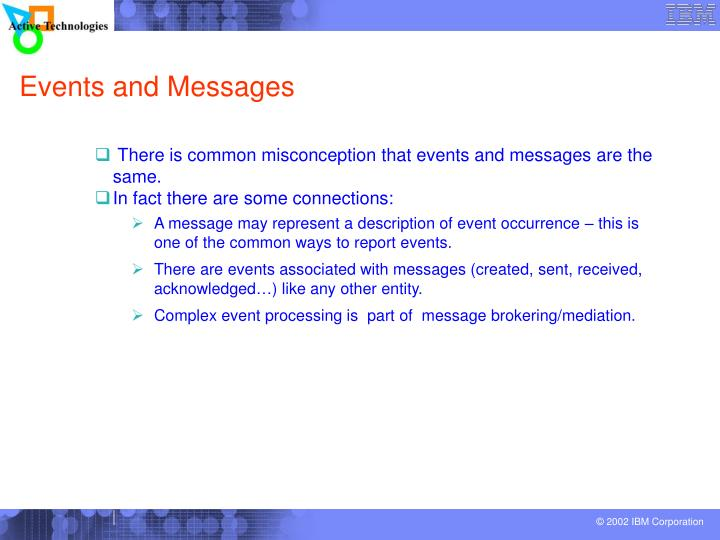 Events and Messages