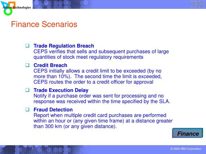 Finance Scenarios