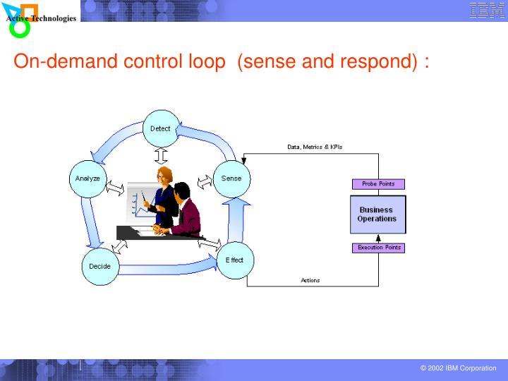 On-demand control loop  (sense and respond) :