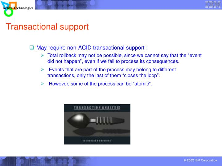 Transactional support