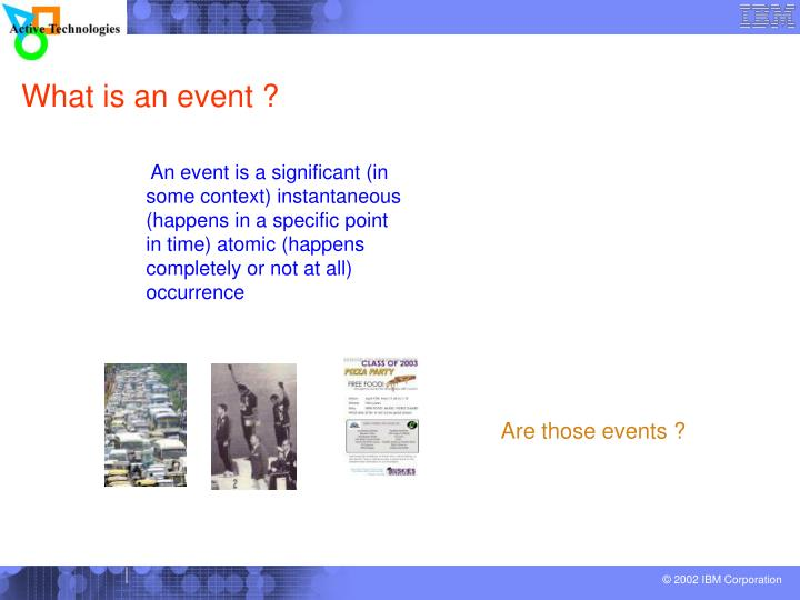 What is an event ?