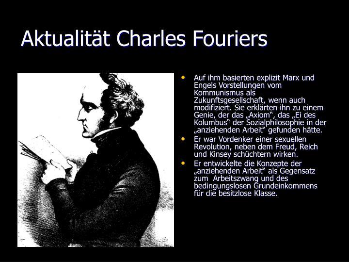 Aktualität Charles Fouriers