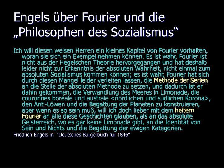 """Engels über Fourier und die """"Philosophen des Sozialismus"""""""