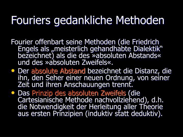 Fouriers gedankliche Methoden