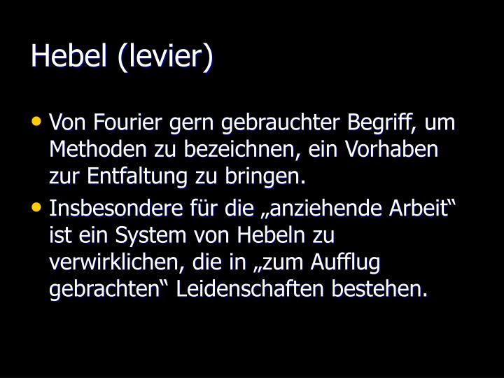 Hebel (levier)