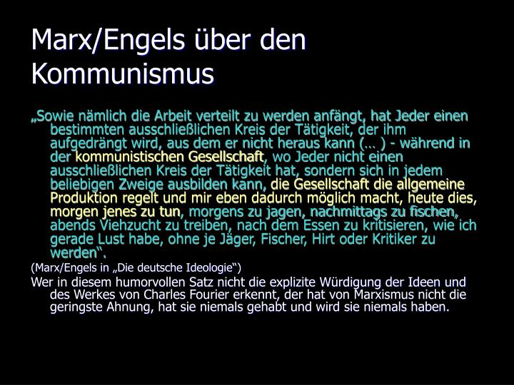 Marx/Engels über den Kommunismus