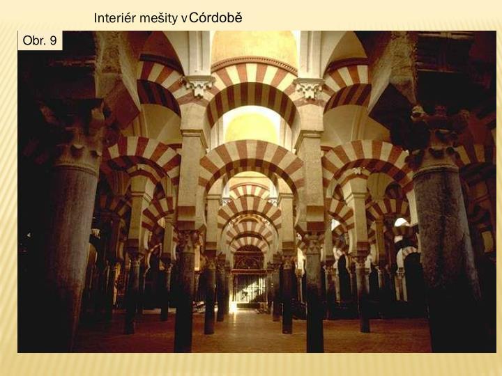 Interiér mešity v