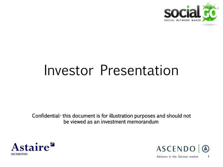 investor presentation n.