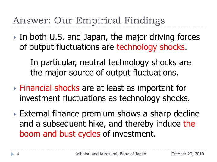 Answer: Our Empirical Findings