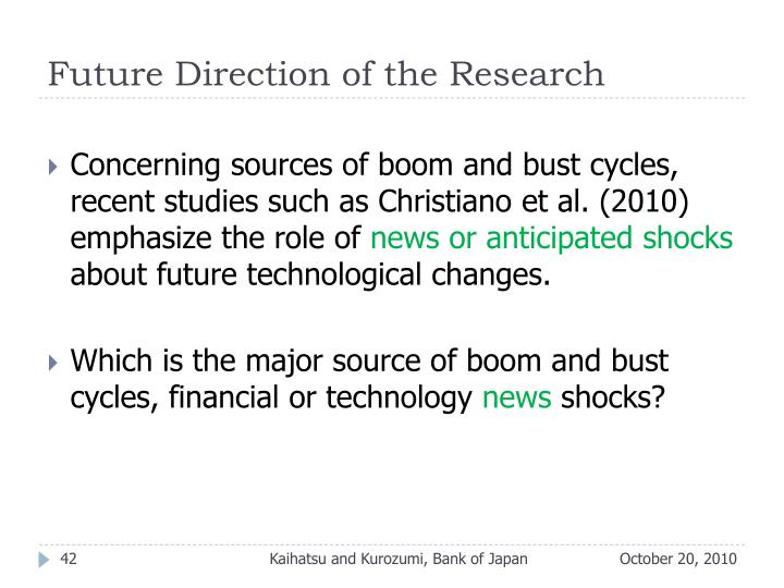 Future Direction of the Research