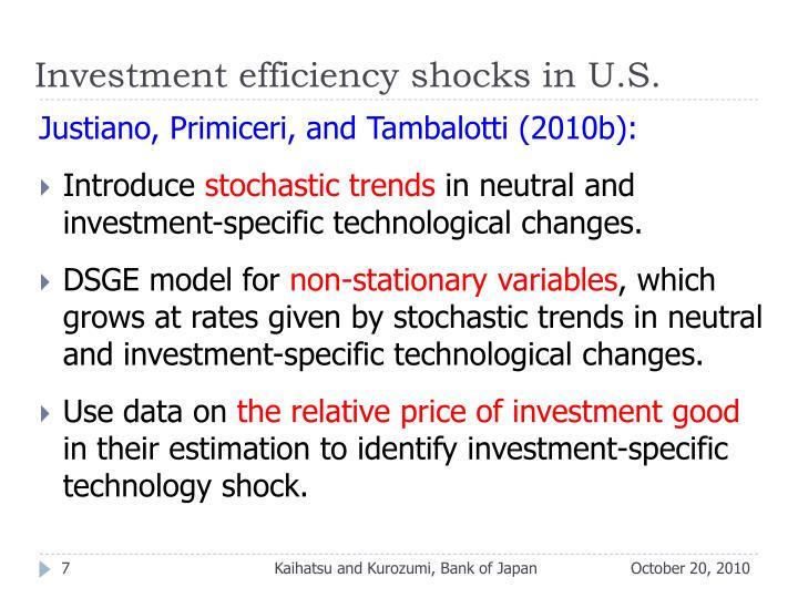 Investment efficiency shocks in U.S.