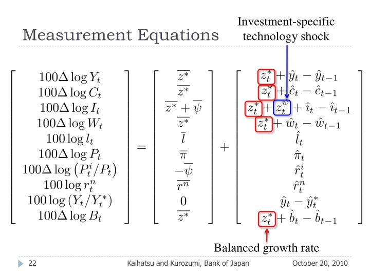Measurement Equations