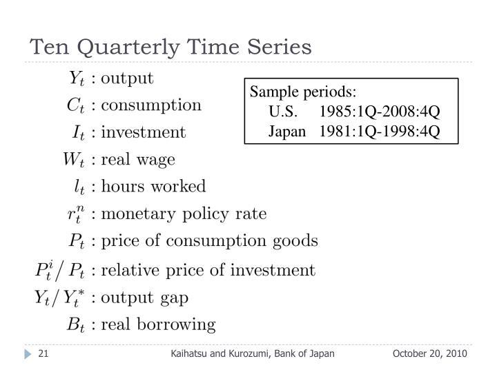 Ten Quarterly Time Series