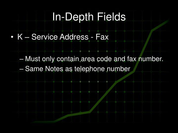 In-Depth Fields