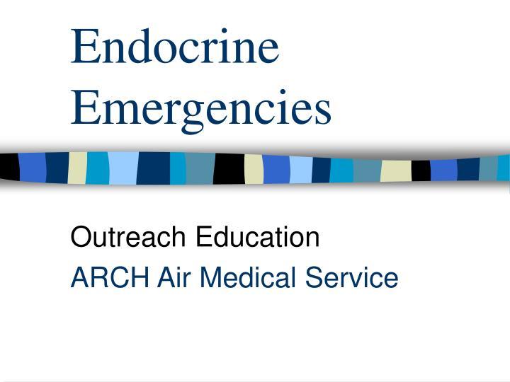 endocrine emergencies n.