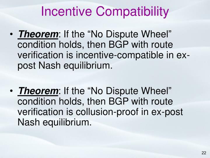 Incentive Compatibility