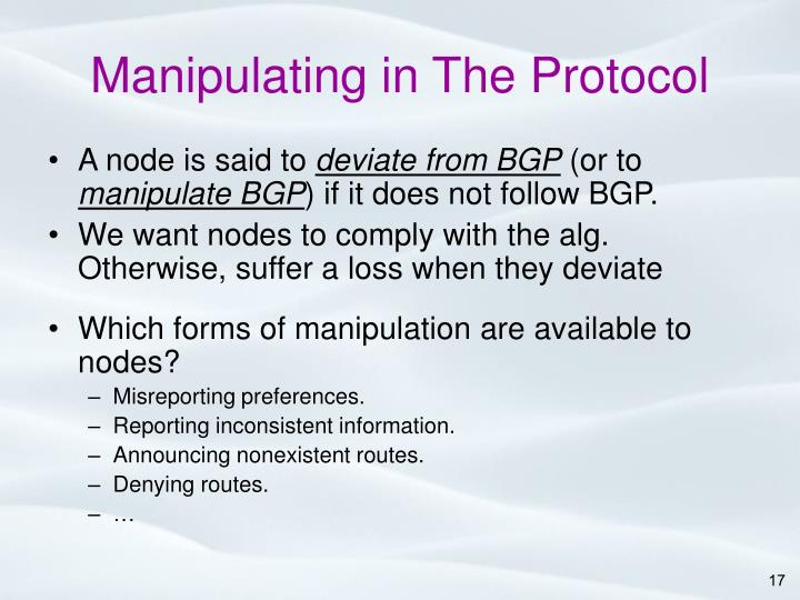 Manipulating in The Protocol