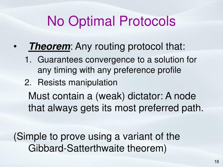 No Optimal Protocols