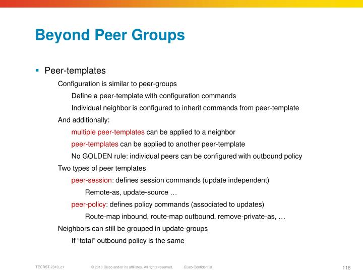 Beyond Peer Groups