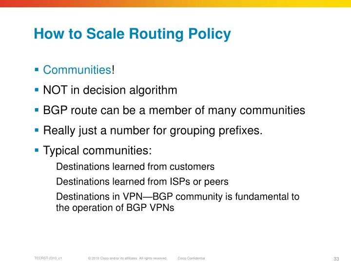 How to Scale Routing Policy