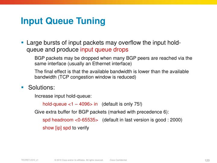 Input Queue Tuning