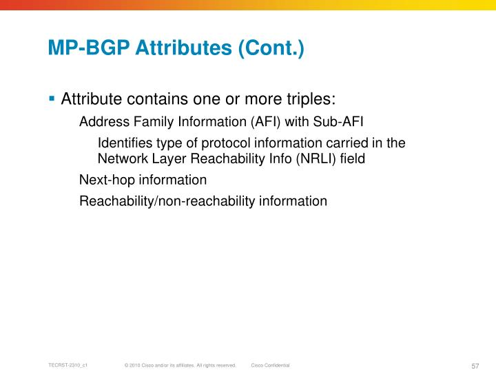 MP-BGP Attributes (Cont.)