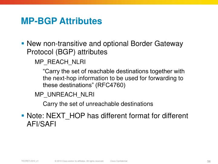 MP-BGP Attributes