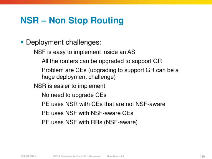 NSR – Non Stop Routing