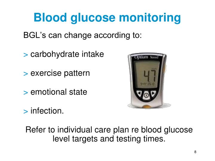 type 1 diabetes and nutrition For type 1 diabetic patients, the goal of optimal glycemic control can be achieved with a balance between insulin and nutrition needs previous references.