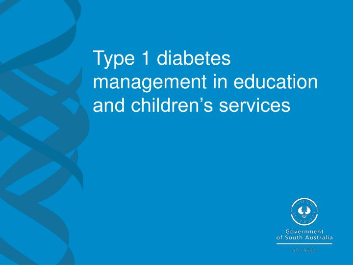 Type 1 diabetes management in education and children s services