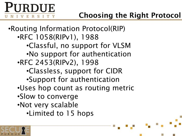Routing Information Protocol(RIP)