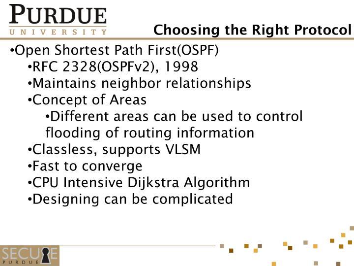 Open Shortest Path First(OSPF)