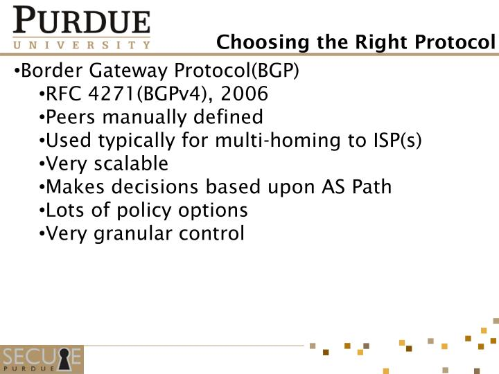 Border Gateway Protocol(BGP)